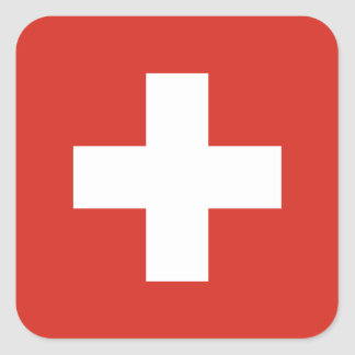 Bandera del pegatina de Suiza