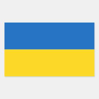 Bandera del pegatina de Ucrania