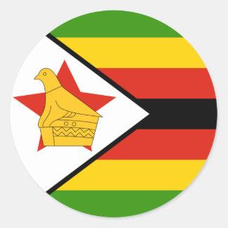 Bandera del pegatina de Zimbabwe