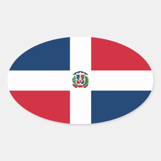 Bandera del pegatina del óvalo de Dominica