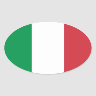 Bandera del pegatina del óvalo de Italia