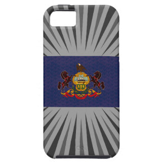 Bandera del Pennsylvanian del modelo del vintage iPhone 5 Carcasa