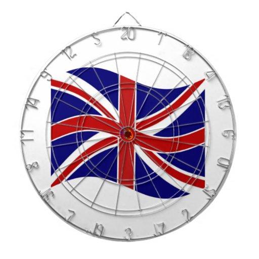 Bandera del Pentagram de Union Jack que agita Tablero Dardos
