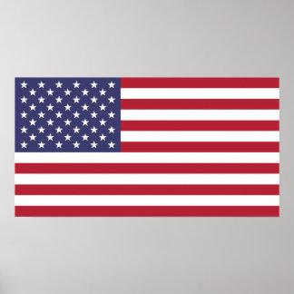 Bandera del pequeño poster de los Estados Unidos d