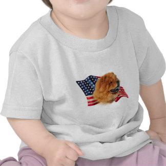 Bandera del perro chino de perro chino camisetas