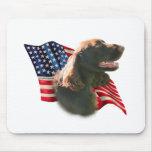Bandera del perro de aguas de campo alfombrillas de ratón