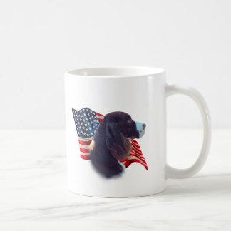 Bandera del perro de aguas de saltador inglés tazas de café