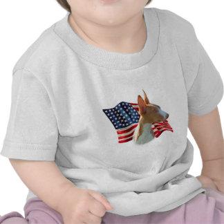 Bandera del perro de Ibizan Camisetas