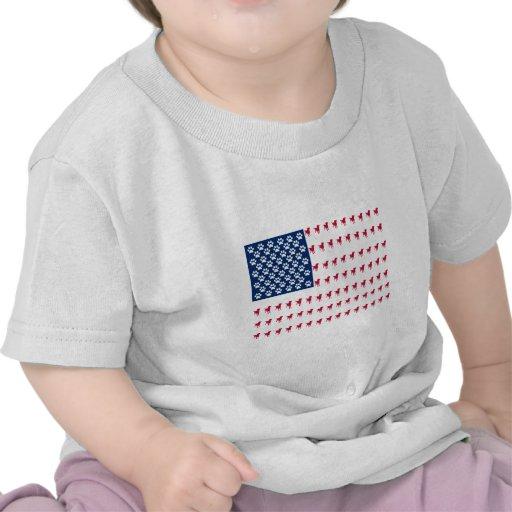 Bandera del perro de los E.E.U.U. Camisetas