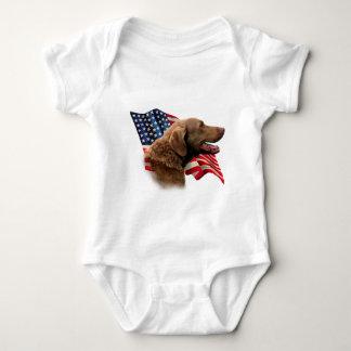 Bandera del perro perdiguero de bahía de tee shirt
