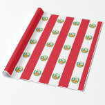 Bandera del Perú - Flag of Peru Wrapping Paper