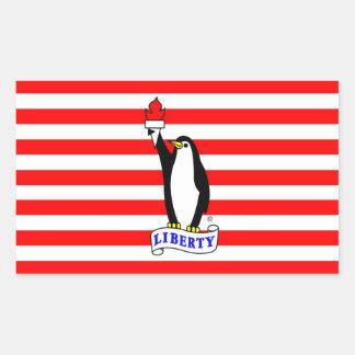 Bandera del pingüino de la libertad rectangular altavoz