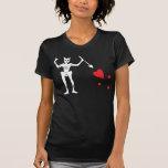 Bandera del pirata de Blackbeard Camisetas