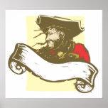 Bandera del pirata posters