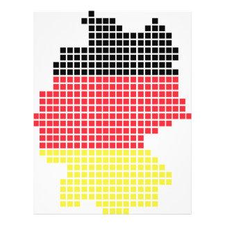 bandera del pixel de Alemania Tarjetón