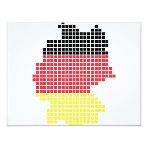 bandera del pixel de Alemania Invitación Personalizada