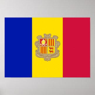 Bandera del poster de Andorra