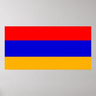 Bandera del poster de Armenia