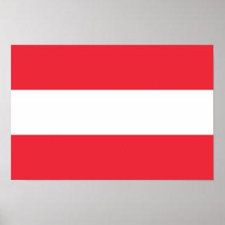 Bandera del poster de Austria