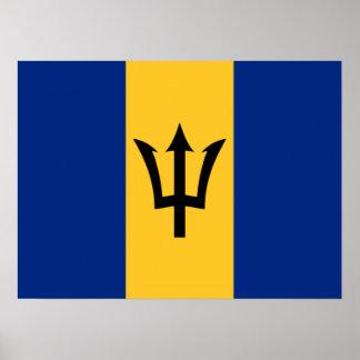 Bandera del poster de Barbados