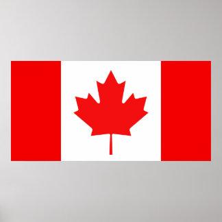 Bandera del poster de Canadá
