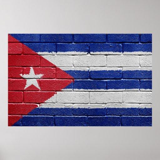 Bandera del poster de Cuba