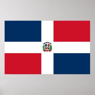 Bandera del poster de Dominica