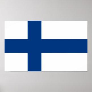 Bandera del poster de Finlandia