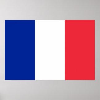 Bandera del poster de Francia