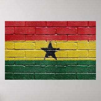 Bandera del poster de Ghana