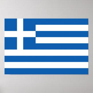 Bandera del poster de Grecia