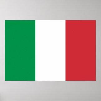 Bandera del poster de Italia