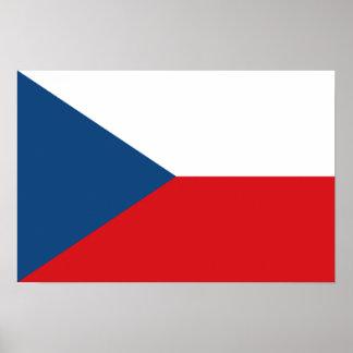 Bandera del poster de la República Checa