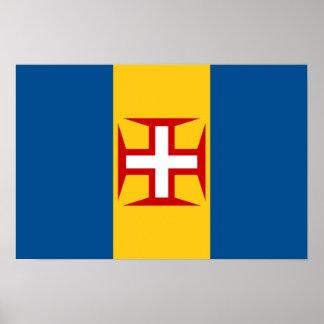 Bandera del poster de Madeira