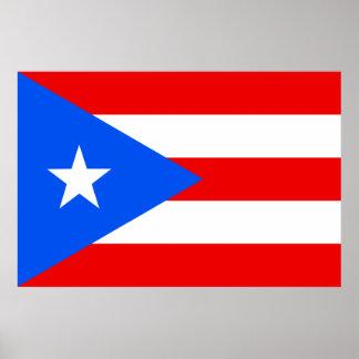 Bandera del poster de Puerto Rico