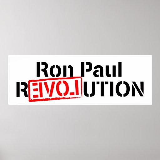 Bandera del poster de Ron Paul