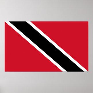 Bandera del poster de Trinidad and Tobago
