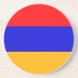 Bandera del práctico de costa de la arena de Armen Posavasos Manualidades