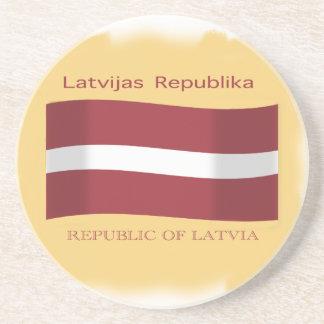Bandera del práctico de costa de Letonia Posavasos Personalizados
