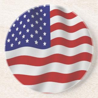 Bandera del práctico de costa de los E.E.U.U. Posavasos Manualidades