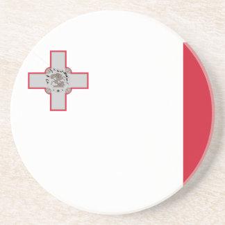 Bandera del práctico de costa de Malta Posavasos Diseño