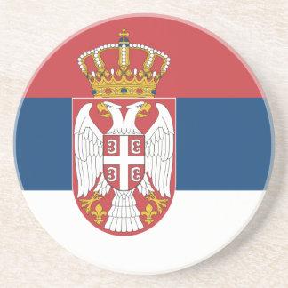 Bandera del práctico de costa de Serbia Posavasos Personalizados
