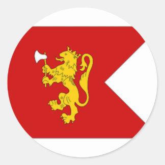 Bandera del Príncipe heredero de Noruega Etiqueta Redonda