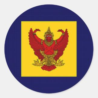Bandera del Príncipe heredero de Tailandia Etiqueta Redonda