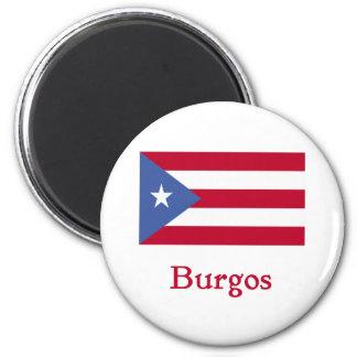 Bandera del puertorriqueño de Burgos Imán Redondo 5 Cm