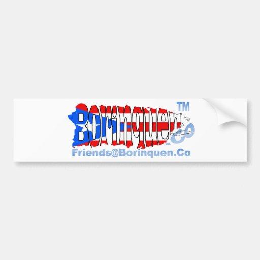 bandera del puertorriqueño de Friends@Borinquen Pegatina Para Auto