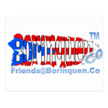 bandera del puertorriqueño de Friends@Borinquen Postal
