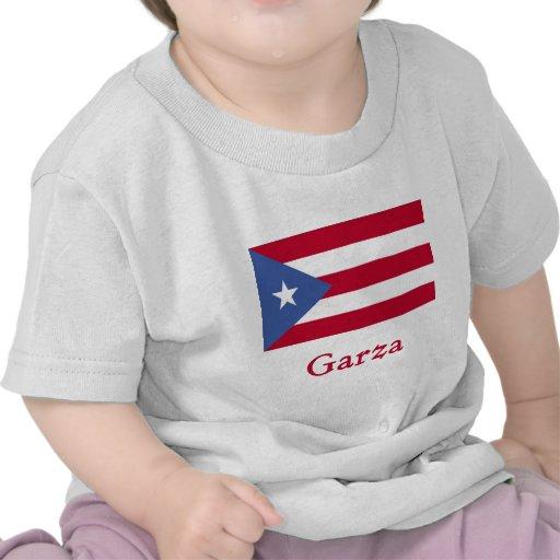 Bandera del puertorriqueño de Garza Camiseta