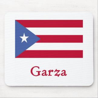 Bandera del puertorriqueño de Garza Mousepads