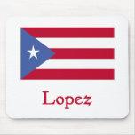 Bandera del puertorriqueño de López Alfombrillas De Ratones